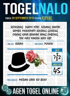 Rumus Paito Togel Online Live Draw 4D TogelNalo Kupang 28 September 2016