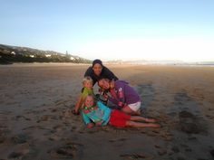 spending valuble time with family: priceless in wilderness beach, George