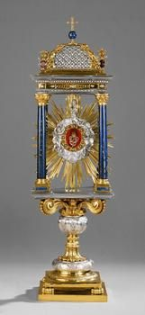 Monstrance with a tooth of St. Peter Rome,   via :  Kunsthistorisches-Museum-Wien
