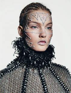 virgin mcqueen: kirsi pyrhone by richard burbridge for dazed and confused