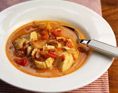 Recipe for Jamaican run down (fish stew with tomato, peppers and coconut milk) {The Perfect Pantry}
