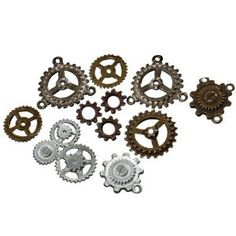 Steampunk Assorted GEARS Victorian Industrial Altered Art Costume Decoration on Etsy, $9.99