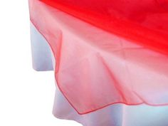 ArtOFabric Red Organza Table Overlay 59 Inch Square