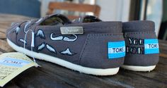 Mustache Mania TOMS by BStreetShoes on Etsy, $119.00