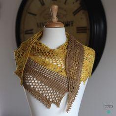 Spytacular - garter and lace asymmetrical shawl knitting pattern