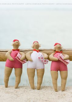 #tildas at the #beach These make me giggle...my grandma's name was Tilda and these gals have attitude