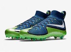 reputable site f4759 42cf1 Nike Vapor Untouchable TD Football Cleats 12 Brave Blue Mean Green 698833  413   eBay