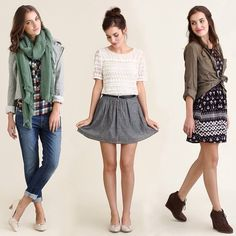 """@Mimi ♥♥'s photo: """"Three of our favorite outfits from 13 Going On 30, our newest feature that shows you how to take 13 pieces for 30 days of outfits. Which do you love most?"""""""