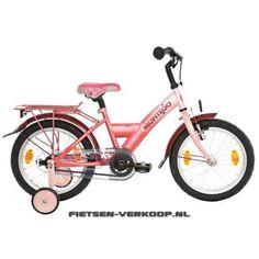 Meisjesfiets Montego Mimi Roze 16 Inch | bestel gemakkelijk online op Fietsen-verkoop.nl