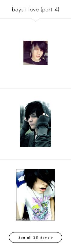 """""""boys i love (part 4)"""" by bvblover666 ❤ liked on Polyvore featuring people, johnnie, johnnie guilbert, guys, boys, site models, characters, pictures, scene and emo"""