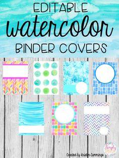 10 best watercolor binder covers images printable binder covers