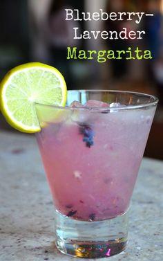 blueberry-lavender margarita recipe Lavender Drink, Lavender Cocktail, Lavender Syrup, Lavender Lemonade, Lavender Fields, Cocktail Syrups, Cocktail Recipes, Wine Cocktails, Tequila Drinks