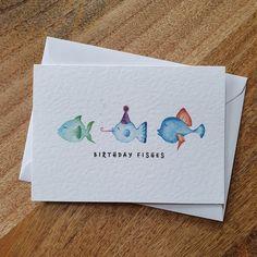 Watercolor Birthday Cards, Birthday Card Drawing, Birthday Card Design, Birthday Cake Card, Watercolor Cards, Birthday Puns, Watercolour Painting, Watercolors, Beautiful Birthday Cards