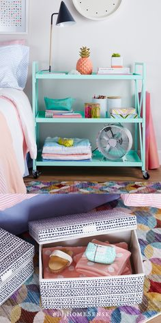 Running out of closet space in a small room? A multi-shelf cart not only offers ample room to stash all your necessities like books and bath towels, but it can also be wheeled around to serve different functions, from workspace to nightstand. #MyHomeSense storage carts start at $59.99, compare at $80 & up!