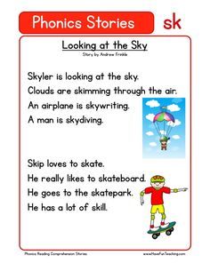 This Reading Comprehension Worksheet - Looking at the Sky is for teaching reading comprehension. Use this reading comprehension story to teach reading comprehension.