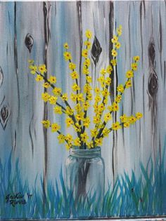 Paintings - Paint N Sip With Jackie Rivers Easy Flower Painting, Acrylic Painting Flowers, Easy Canvas Painting, Simple Acrylic Paintings, Time Painting, Spring Painting, Pallet Painting, Diy Canvas Art, Yellow Painting