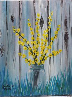 Paintings - Paint N Sip With Jackie Rivers Easy Flower Painting, Acrylic Painting Flowers, Summer Painting, Easy Canvas Painting, Time Painting, Pallet Painting, Yellow Painting, Canvas Art, Canvas Paintings