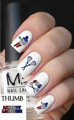 If you were looking for a blue version of the nail design above Horse Nail Art, Horse Shoe Nails, Cute Acrylic Nails, Cute Nails, Pretty Nails, Pastel Nails, Fox Racing Nails, Elephant Nails, Baby Elephant