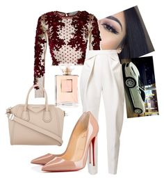 """""""No Heart // 21 Savage"""" by nayedm on Polyvore featuring Amen, Delpozo, Christian Louboutin, Givenchy and Ferrari"""