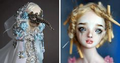 Russian jeweler artist and designer Marina Bychkova, who lives in Canada, creates stunning one-of-a-kind ball-jointed porcelain dolls for adults.  Marina says that her calling for creating dolls became evident back when she was only 6. She couldn't stand how boring and mediocre the mass-produced dolls were, so Marine started making toys that suited her own ideas of beauty. Eventually, the training at the Emily Carr Institute of Art and Design influenced her to commit to the doll making as a…