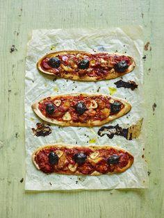 Crisp Neapolitan-style mini pizzas with flakes of smoked mackerel from Miguel Barclay, author of One Pound Meal One Pound Meals, Smoked Mackerel, Shellfish Recipes, Veggie Recipes, Vegetable Pizza, Crisp, Mini Pizzas, Veggies, Favorite Recipes