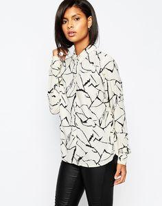 Vila+Printed+Long+Sleeve+Shirt