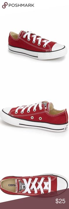 Baby Converse This is a pair of adorable NIB Toddler size 10 converse. The color is called chili paste, which is a great red color. Every cool kid needs these😉 ⚜Reasonable Offers Only Please⚜ Converse Shoes Sneakers