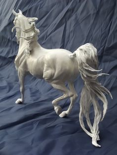 "Adlai ""Ornament of God"" Park Trot Arabian Gelding sculpted by Tabatha Pack of Twin Oak Arabians. Approx. 1/9th scale. Limited Edition.  #TwinOakArabians #ArabianHorses #Sculptures"
