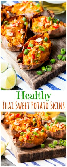 A healthy vegan sweet potato recipe - packed with Thai flavours. A great snack for game day.