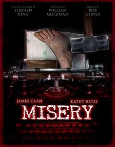 Illustrators create homages to cult classic horror movies for DVD & Blu-ray re-releases - Digital Arts Misery Horror Movie Posters, Cinema Posters, Movie Poster Art, Film Posters, Movie Collage, Films Stephen King, Misery Stephen King, Halloween Movies, Scary Movies