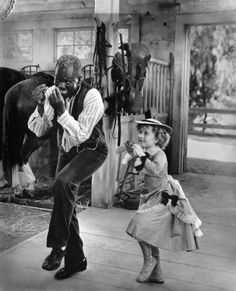 Shirley Temple was pretty good at tapping in all of her movies.