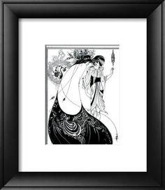 Aubrey Beardsley Peacock Ink Drawing