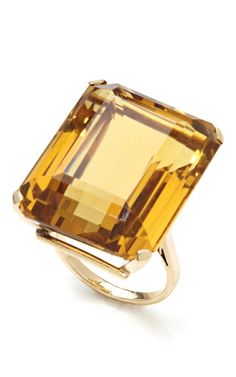 Ring can be resized; please contact Customer Care to customize This 14-karat yellow gold cocktail ring from the collection of Tara Compton is from the 1940s and features a faceted citrine stone at top 14-karat yellow gold with 30.0-carat citrine stone Please note: All vintage and one-of-a-kind items are final sale