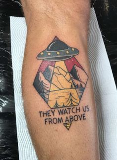 UFO tattoo traditional northlane worldeater