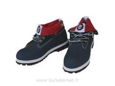 Bottes Timberland Roll Top Bleu Rouge Bottes femme Chaussures  Timberland