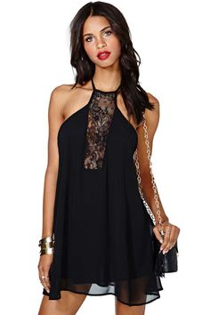 Mind Games Dress black poly (48.00) NA