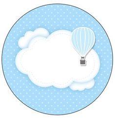 Uau! Veja o que temos para Molde para Latinha Balão de Ar Quente Azul