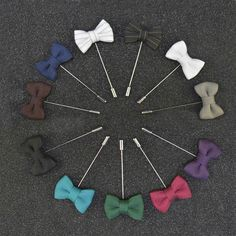 Fashion Lapel Pin Brooches Bowknot Shape Men's Brooch Pins Fabric Black White Bow Lapel Pin for Men Suits Fashion Men Jewelry