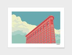 """""""Flatiron Building"""", Numbered Edition Fine Art Print by Remko Heemskerk - From 25,00€ - Curioos"""