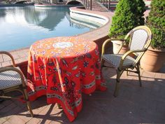 Coral Red Square Tablecloth Anatolian Grass Lawn Picnic Park Beach Yard Camp…