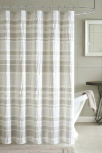 Cloth Shower Curtain Liner With Suction Cups