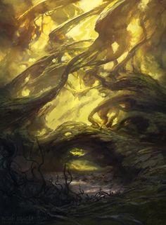 Swamp by Noah Bradley