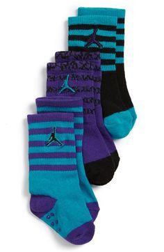 'Jordan' Socks (3-Pack) (Baby, Walker & Toddler)