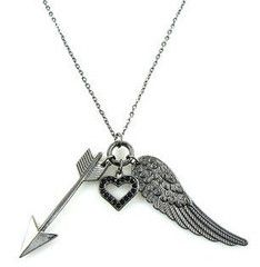 Arrow, angel wings, and heart necklace- perfect Pi Phi combination #piphi #pibetaphi