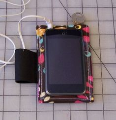 Make your own iphone armband! why didn't i ever think of this? looks a lot sturdier than the ones i've bought.
