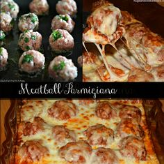 Meatball Parmigiana.