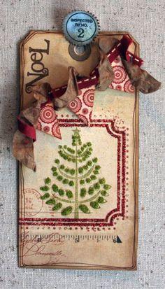 Layered Christmas Tag