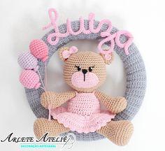 Crochet Baby Toys, Crochet Bear, Crochet Gifts, Crochet Animals, Baby Knitting, Crochet Beanie Pattern, Easy Crochet Patterns, Knitting Patterns, Baby Kranz