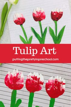 Tulip art painting project inspired by the Canada 150 tulip, the Canadian Tulip Festival, and a rustic tissue box. An all-ages art activity the whole family can do. Flower Activities For Kids, Spring Activities, Preschool Painting, Painting Activities, Canada 150 Tulip, Tulips Garden, Tulip Festival, Yellow Tulips, Spring Art