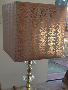 Copper Gilded Butterfly hand printed onto rose silk Hand Printed Fabric, Printing On Fabric, Lampshades, Copper, Butterfly, Silk, The Originals, Lighting, Rose